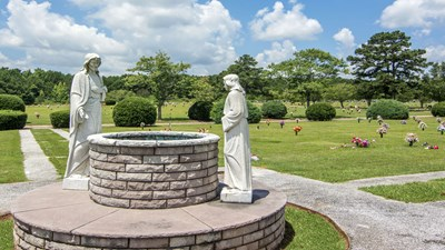 Unique feature on cemetery grounds at Fairview Memorial Gardens