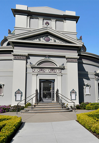 Front exterior building at San Francisco Columbarium