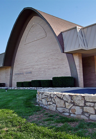 Front exterior at Noland Road Chapel