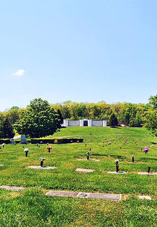 Cemetery grounds at Grandview Memory Gardens