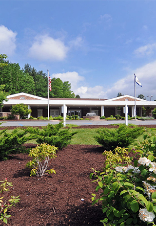 Landscaping at Blue Ridge Funeral Home