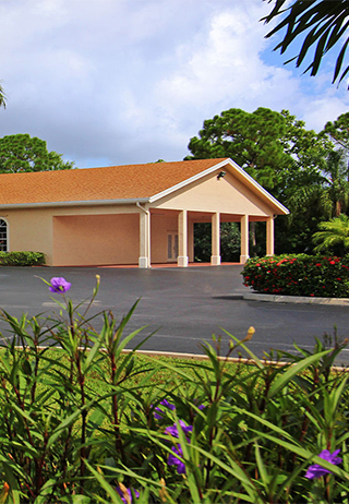 Front exterior at Aycock Funeral Home Young & Prill Chapel