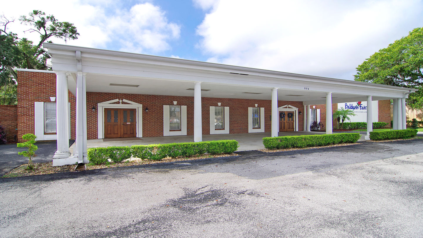 Front building exterior at Baldwin Fairchild Funeral Home