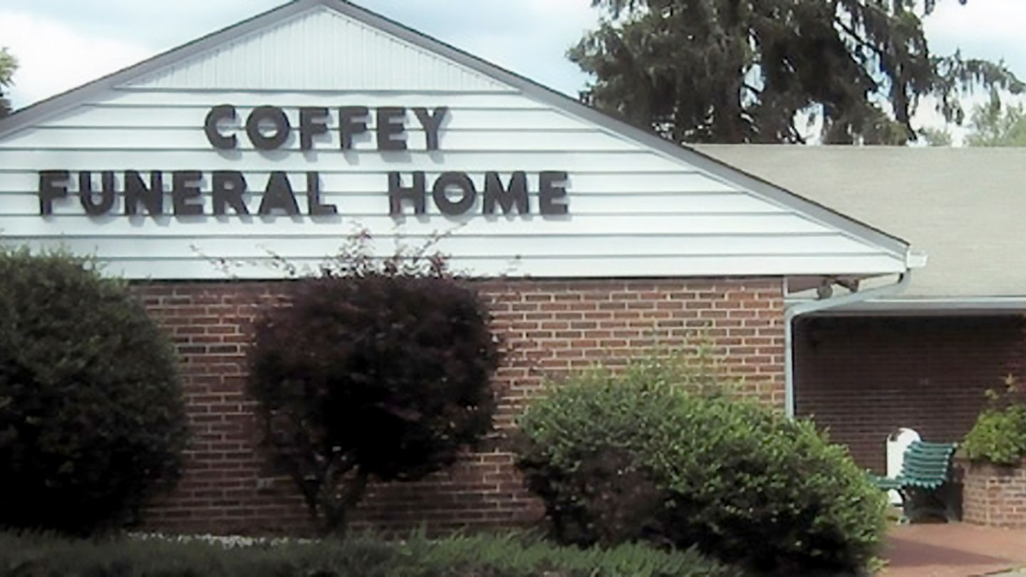 Front exterior at Coffey Funeral Home