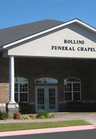 Front exterior at Rollins Funeral Home