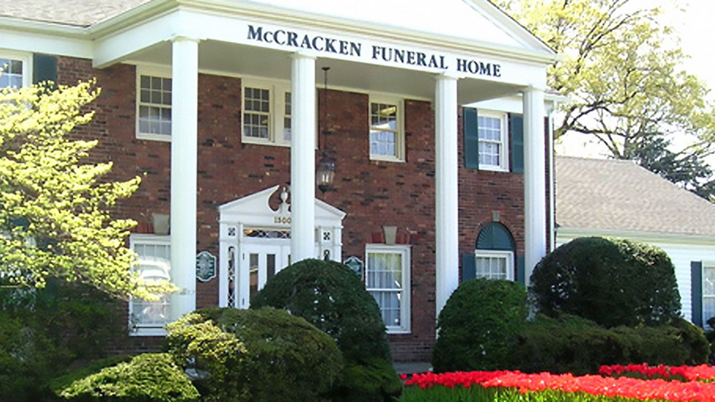 Front exterior at McCracken Funeral Home