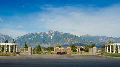 Front exterior at Wasatch Lawn Memorial Park South Valley