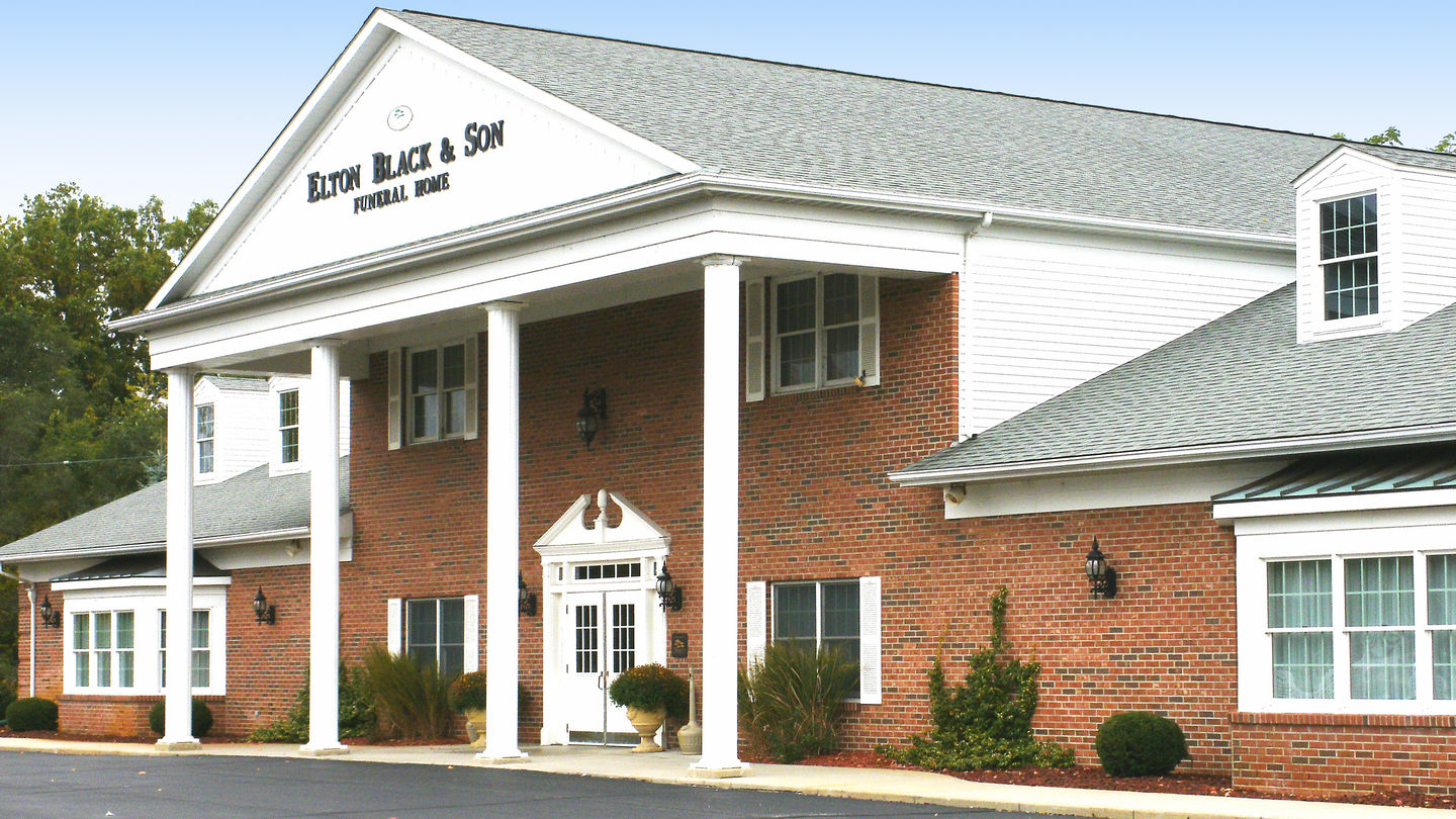 Front exterior at Elton Black & Son Funeral Home