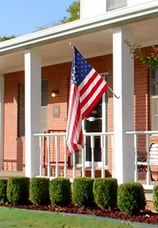 Front exterior building at McConnell Funeral Home