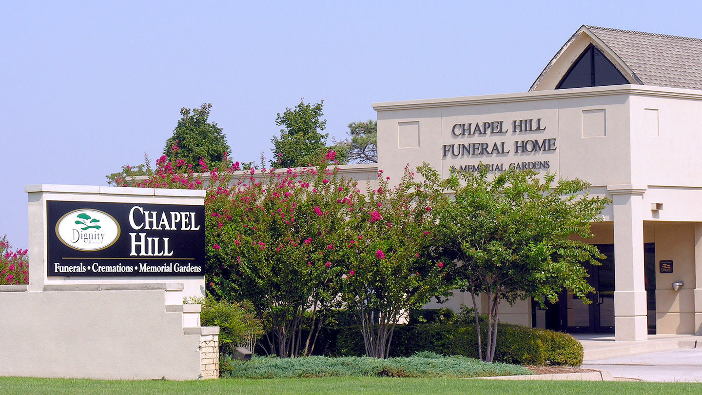 Front exterior building at Chapel Hill Funeral Home