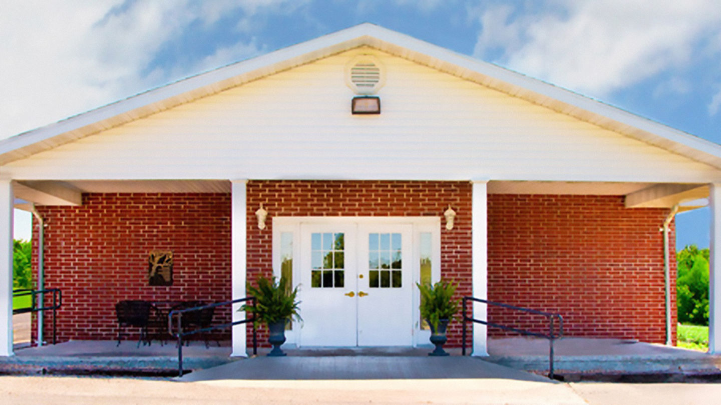 Front exterior at Debo Funeral Home