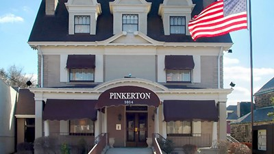 Front exterior building at Orion C. Pinkerton Funeral Home, Inc.