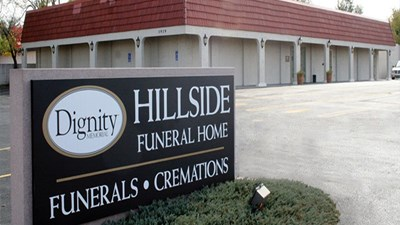 Front exterior at Hillside Funeral Home West