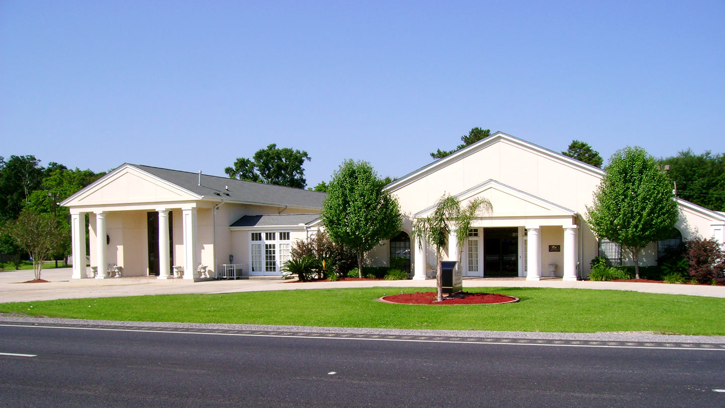 Front exterior at Ourso Funeral Home