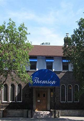 Front exterior at Thomson Funeral Home