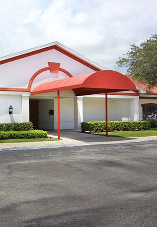 Front exterior at Royal Palm Funeral Home