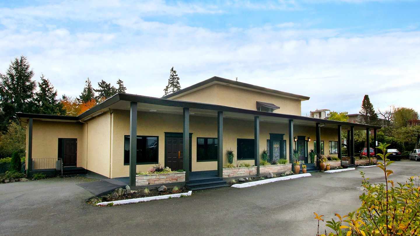 Front exterior at Yarington's/White Center Funeral Home