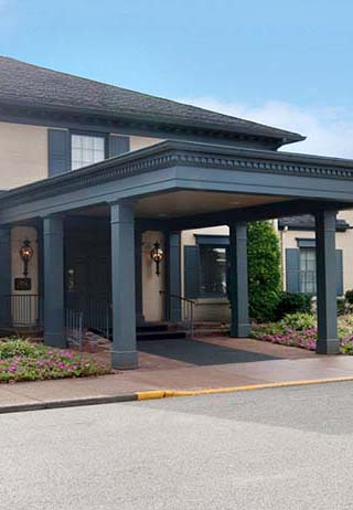 Front exterior entrance at Alexander Funeral Home-West Chapel.