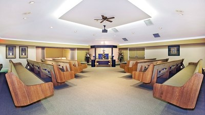 Chapel at Henderson's Fraser Valley Funeral Home