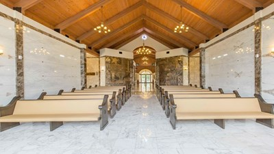 Robert L. Waltrip Memorial Chapel at Texas Liberty Mausoleum at Memorial Oaks Cemetery