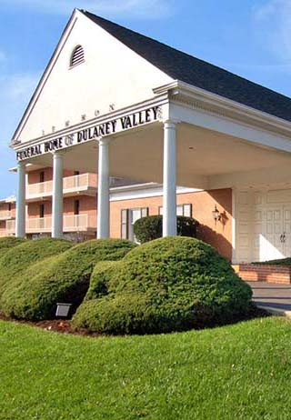 Front exterior building and signage at Lemmon Funeral Home of Dulaney Valley Inc.