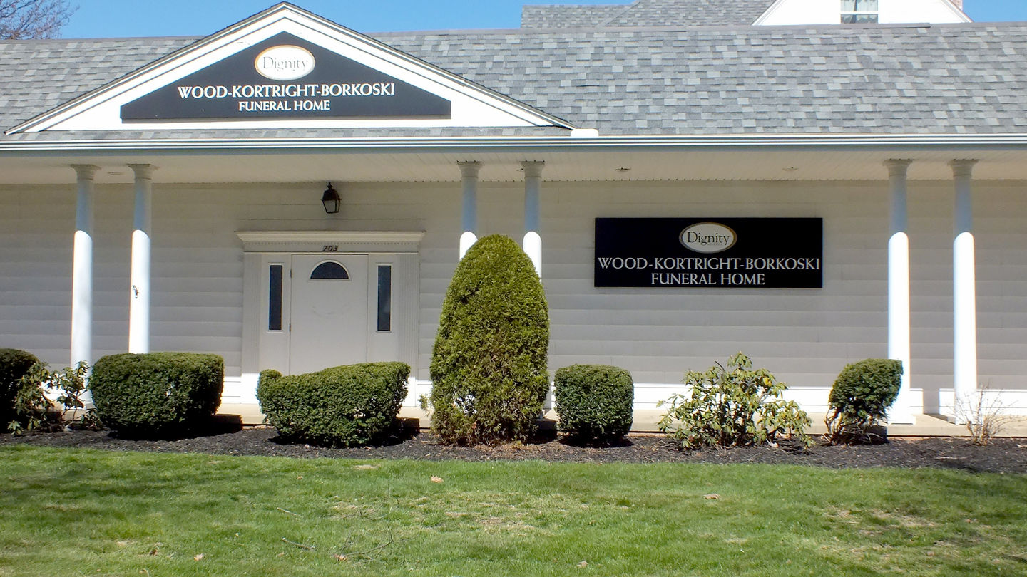 Front exterior at Wood-Kortright-Borkoski Funeral Home