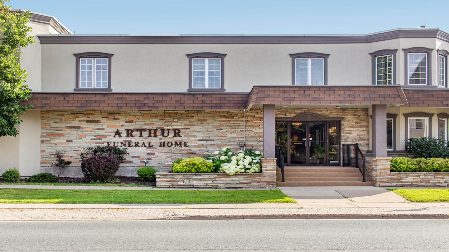 Front exterior building at Arthur Funeral Home - Barton & Kiteley Chapel