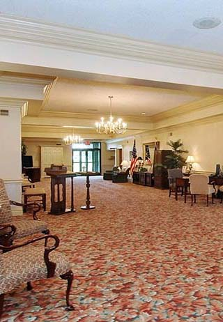 Lobby at Saul-Gabauer Funeral Home Inc