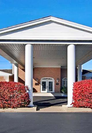 Front exterior at Davison-Fulton-Woolsey Funeral Home