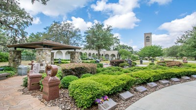 Cremation garden at Oaklawn Cemetery
