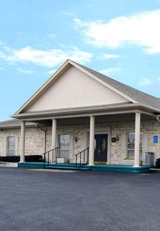 Front exterior building at Ted Dickey Funeral Home