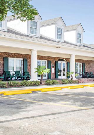 Front exterior at Greenoaks Funeral Home
