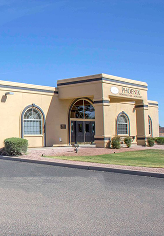 Front exterior building at Phoenix Memorial Park and Mortuary
