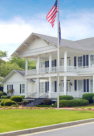 Front exterior building at Caughman-Harman Funeral Home - Lexington Chapel