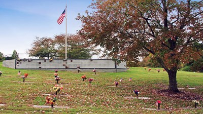 Veterans section at Westminster Gardens Cemetery and Crematory