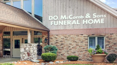 Front exterior at D.O. McComb & Sons Funeral Homes - Pine Valley