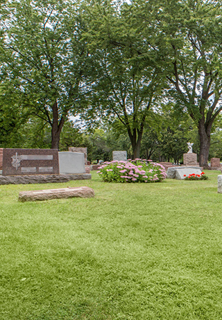 Landscaping at Woodlawn Cemetery
