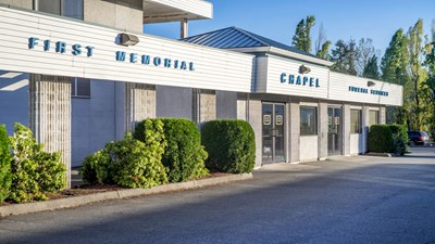Front exterior at First Memorial Funeral Services