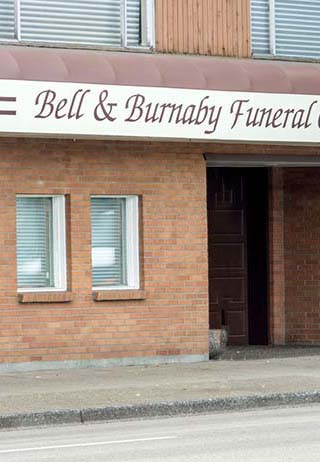 Front exterior at Bell & Burnaby Funeral Chapel