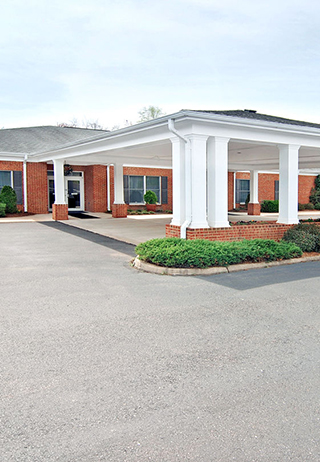 Front exterior at Clore-English Funeral Home