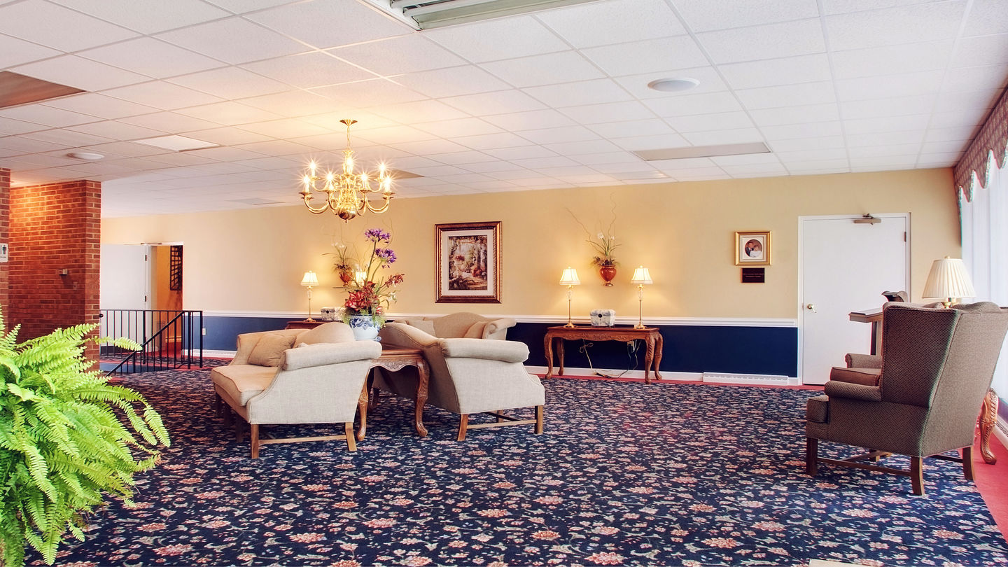 Sitting area at Advantage Funeral & Cremation Services