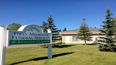 Signage at First Memorial Funeral Services - Riverview Chapel