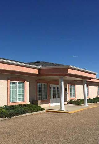 Front exterior building at First Memorial Funeral Services - Riverview Chapel