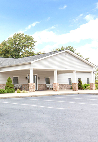 Front exterior at Hopkins-Rector Funeral Home