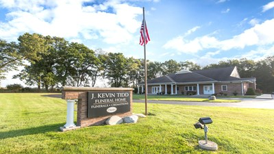 Front exterior at J. Kevin Tidd Funeral Home