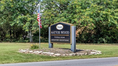 Signage at Mattox-Wood Funeral Home