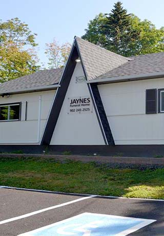 Front exterior at Jaynes Funeral Home
