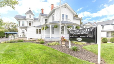 Front exterior at Kauber-Fraley Funeral Home