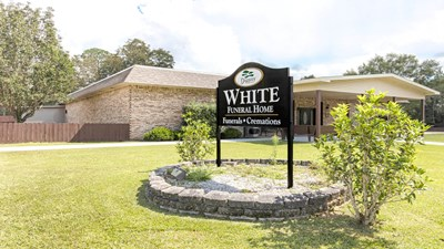 Signage at White Funeral Home