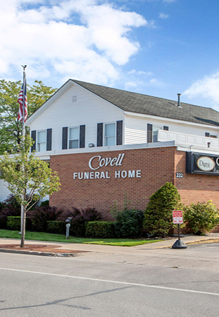 Front exterior at Covell Funeral Home